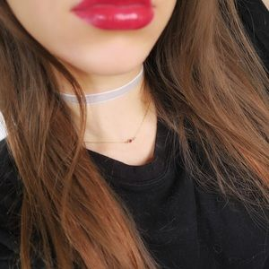 Light Gray Velvet Choker